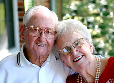 Photo of a couple smiling. Link to Life Stage Gift Planner Over Age 70 Situations.